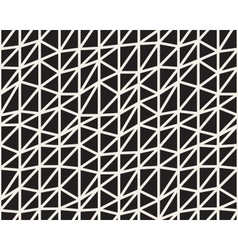 Seamless Black And White Irregular Triangle vector image vector image