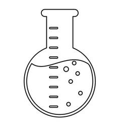 laboratory flask glass liquid thin line vector image vector image