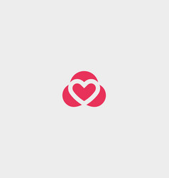 abstract heart symbol logotype valentines vector image