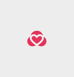 Abstract heart symbol logotype valentines vector