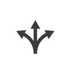 Arrow three way direction icon vector