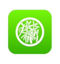 Asian salad icon digital green vector