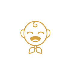 baby icon design template isolated vector image