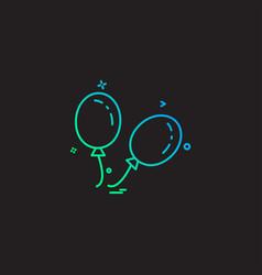 ballons icon design vector image