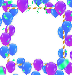 balloon with white frame on background vector image