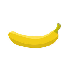 banana isolated ripe yellow fruit on white vector image