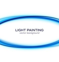 banner design with blue light curves vector image
