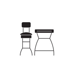 bar chairs black concept icon bar chairs vector image