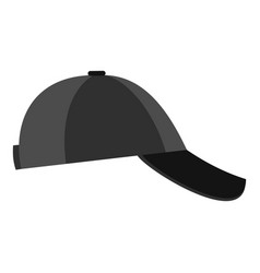baseball cap on the side icon flat style vector image