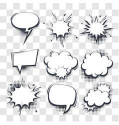 Big set hand drawn effects comic speech bubbles vector