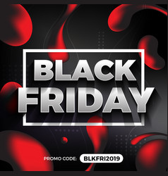 black friday promotion banner and background vector image