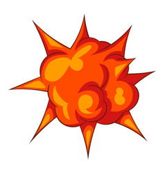 blast with fire icon cartoon style vector image