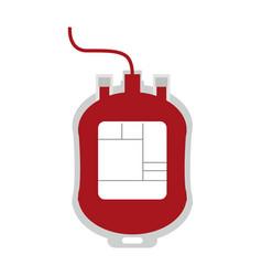 blood bag symbol vector image