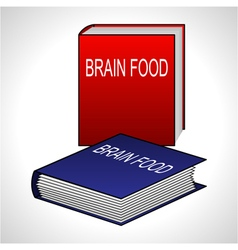 Book icon - Brain Food vector image