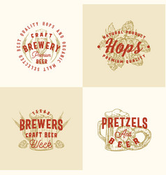 brewery premium abstract signs symbols or vector image