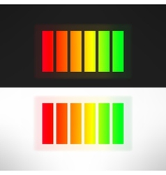 Bright full energy battery indicator vector image