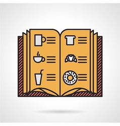 Cafe menu flat icon vector