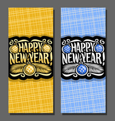 cards for new year vector image