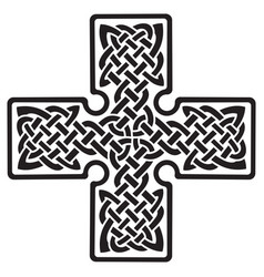 Celtic pagan cross vector