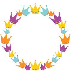 Crowns wreath vector