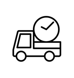 Delivery on time logistic icon vector