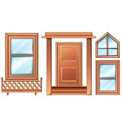 Different door designs vector