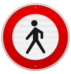 Entrance Forbidden Sign vector image