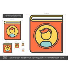 Family album line icon vector