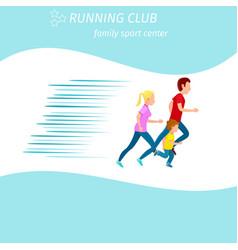family sport center running club health program vector image