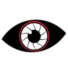 flat cyborg eye vector image