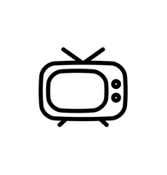 Flat line television icon symbol sign logo vector