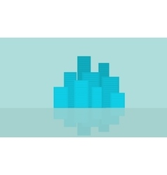 Flat of city design vector