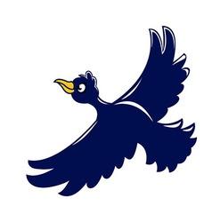 Flying crow vector