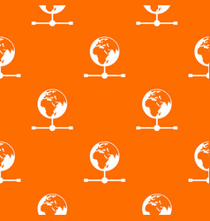 Globe pattern seamless vector