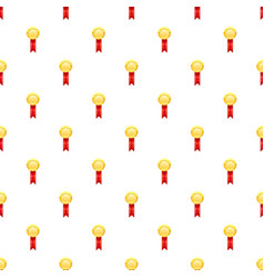 Gold award pattern vector
