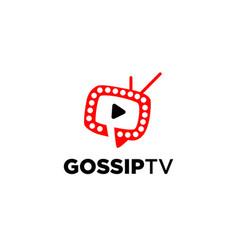 Gossip infotainment channel tv logo symbol icon vector