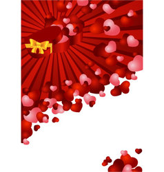 greeting card with a red background vector image