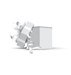 Grey opened present vector