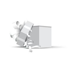 grey opened present vector image vector image