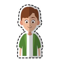 happy boy kid or child icon image vector image