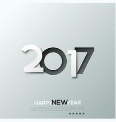Happy new year 2017 congratulation celebration vector