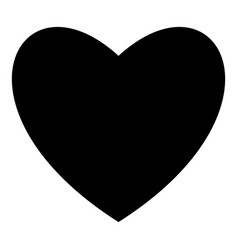 heart black color icon flat style simple image vector image