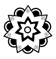 isolated monochrome flower icon vector image