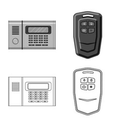 Isolated object office and house symbol set of vector