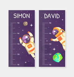 kids height chart stadiometer template height vector image