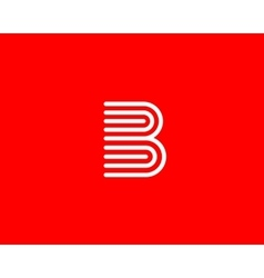 Line letter b logotype abstract moving airy logo vector