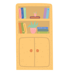 literature on shelf education sign school vector image