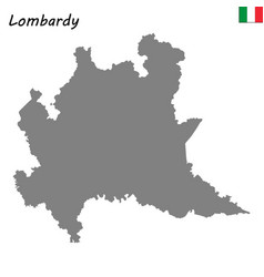map of region of italy vector image