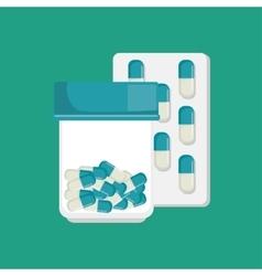 medication pharmacy capsule medical vector image