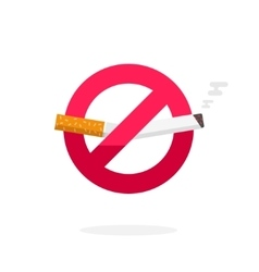 No smoking sign icon badge label broken vector image